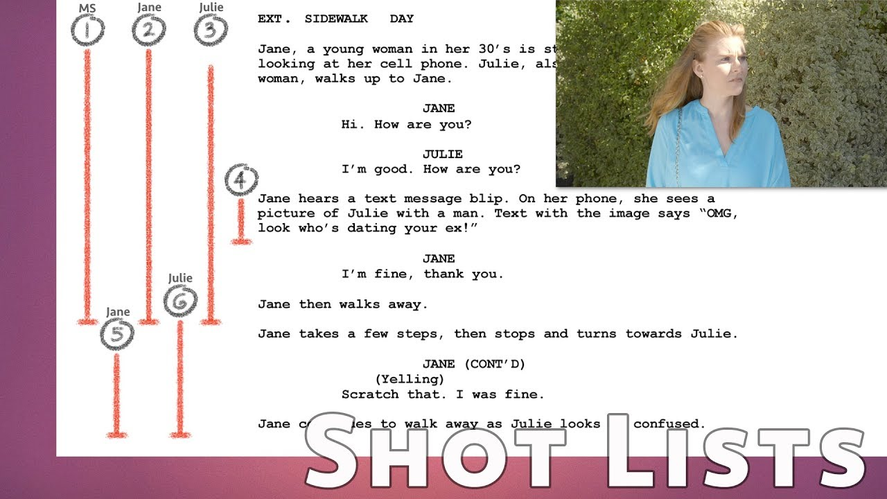shot list tips for filmmakers lining shots on your script youtube