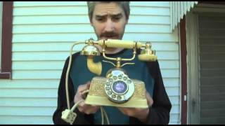Vintage Golden French Style Rotary Telephone