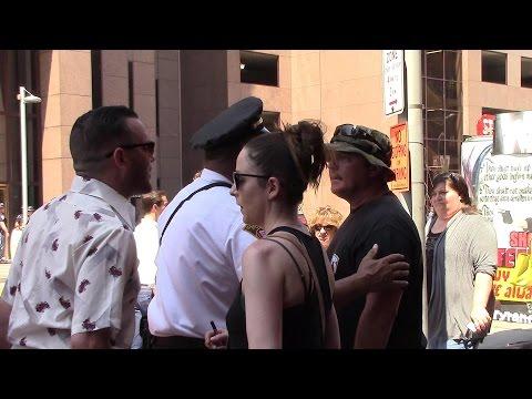 Black Lives Matter vs Bikers for Trump on Cleveland RNC Streets