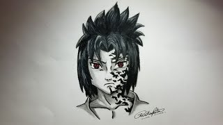 HOW TO DRAW SASUKE UCHIHA - NARUTO SHIPPUDEN - EASY TUTORIAL