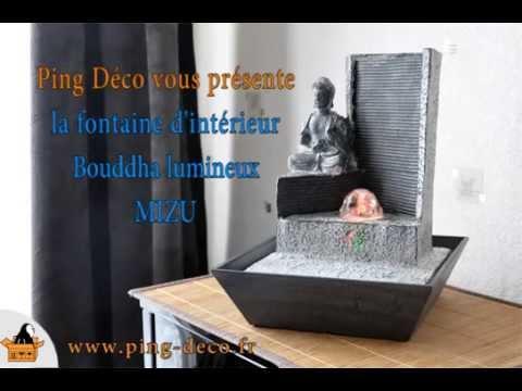 fontaine d 39 int rieur design bouddha mizu disponible sur www ping deco fr youtube. Black Bedroom Furniture Sets. Home Design Ideas