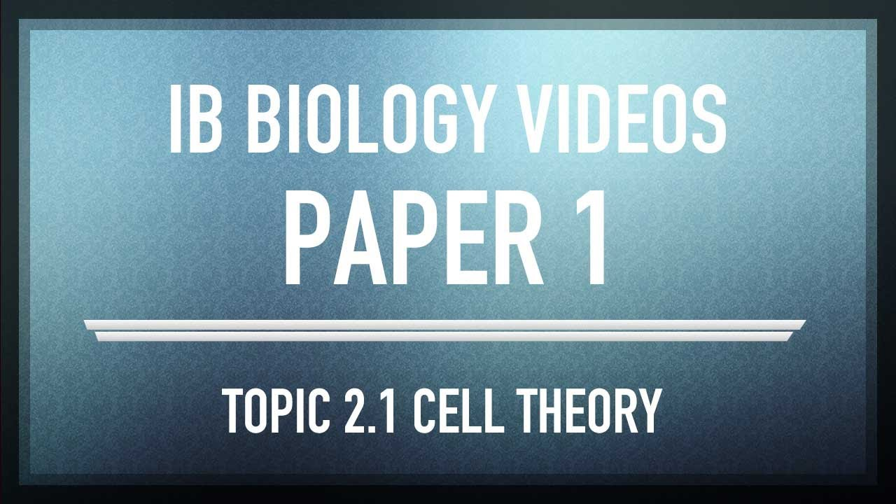 ib biology cell theory 211 outline the cell theory the cell theory states that: 1 all living things are composed of cells (or cell products) 2 the cell is the smallest unit of life.