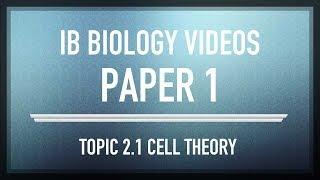 Cell Theory MCQs - IB SL Biology Past Exam Paper 1 Questions | IB Blueprint