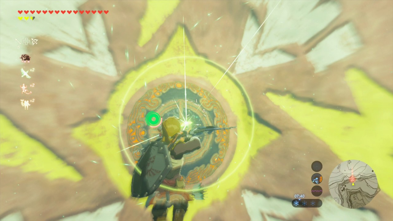 Astuce Zelda Breath Of The Wild Le Dessin Sur La Falaise Youtube