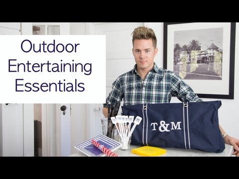 My Outdoor Entertaining Essentials