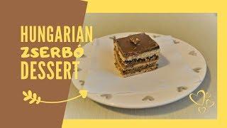 Zserbó Recept | Hungarian Walnut & Jam Dessert Recipe