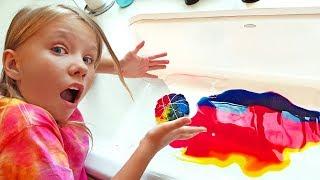 Мы уже ВЗРОСЛЫЕ ! Вызов ! Дети сами сделали ТАЙ ДАЙ футболки ! DIY TIE DYE Challenge