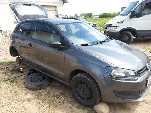Замена задних тормозных колодок и цилиндров VW Polo