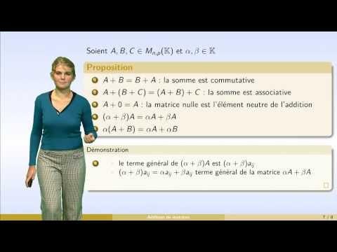 Matrices - partie 1 : définition