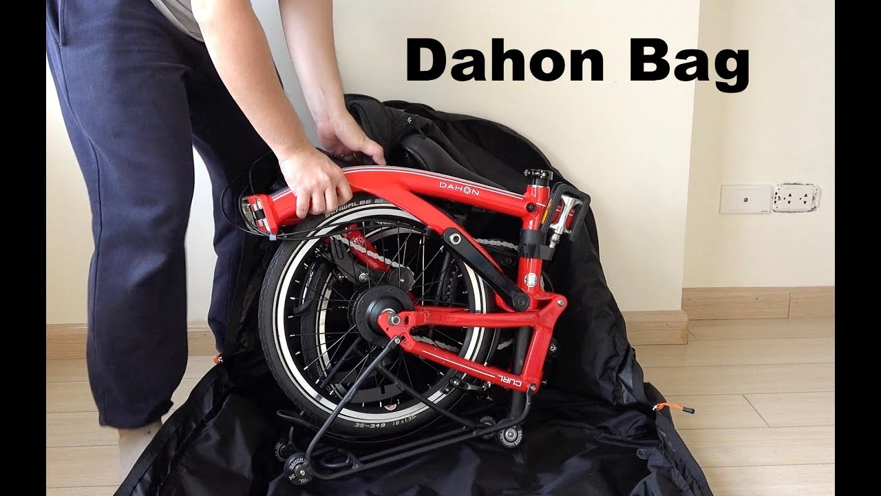 """DAHON STOW BAG XL PADDED STORAGE GREY RED BAG NEW For Folded 16/"""" And 20/"""" Bike"""