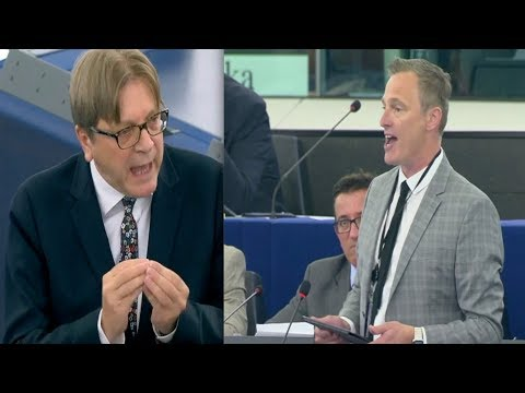 Brexit Party MEP Daubney and EU's Verhofstadt CLASH at European Parliament (18th September 2019)