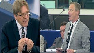 Brexit Party MEP Daubney and EU's Verhofstadt CLASH at European Parliament (18th September 2019)