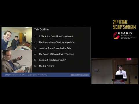 USENIX Security '17 - A Privacy Analysis of Cross-device Tracking