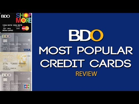 Credit Card Philippines L BDO Most Popular Credit Cards Review