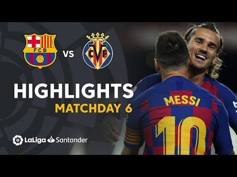 Highlights FC Barcelona vs Villarreal CF (2-1)