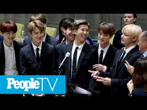 BTS Delivers Moving Speech At The United Nations: 'Just Speak Your Self' | PeopleTV