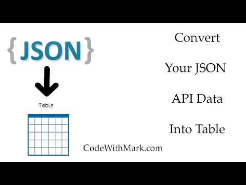 json to table - YouTube