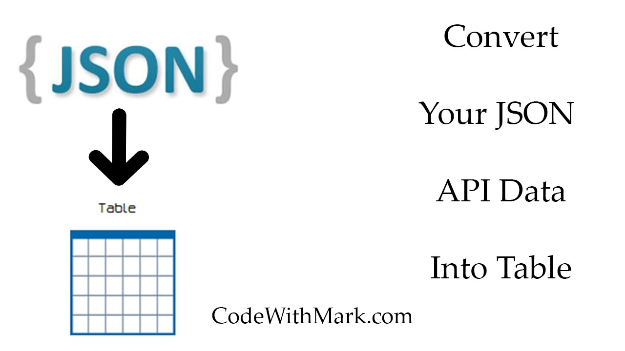 Convert Your API JSON Data To HTML Table