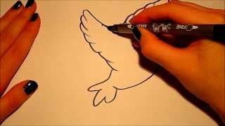 How to draw (for beginners): A bird (2)..!
