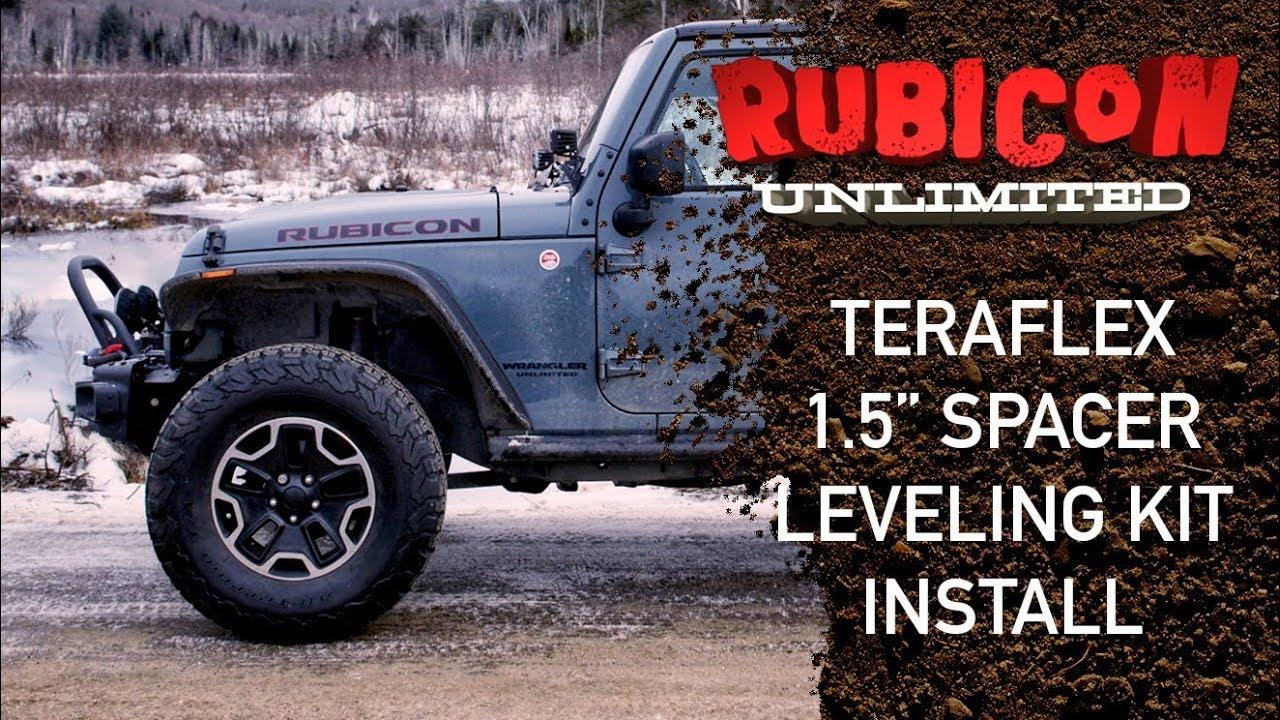 Jeep Leveling Kit >> Teraflex 1 5 Spacer Leveling Kit Install