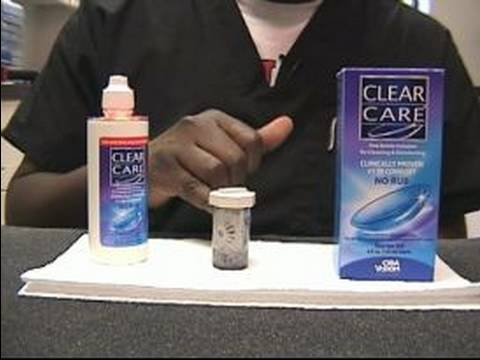 How to Clean Contact Lenses : Clear Care System for Contact Lenses