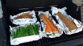 Как я готовлю рыбу и спаржу?