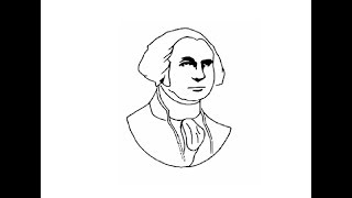 How to draw George Washington face drawing step by step