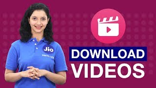 Jio Cinema - How to Download a Video on Jio Cinema(Hindi) | Reliance Jio