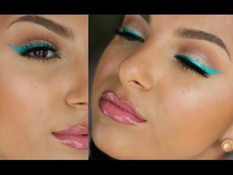 Easy Coloured Eyeliner For Spring! | Makeup By Leyla