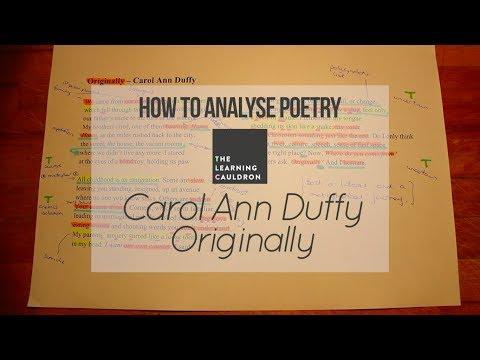 Carol Ann Duffy's 'Originally' | How to Analyse Poetry