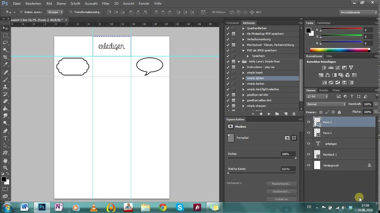 Photoshop Tutorial - Etiketten/ Label/ Sticker gestalten - YouTube