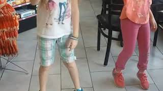 9 year old twin girl dancing the Kiki challenge a little lol