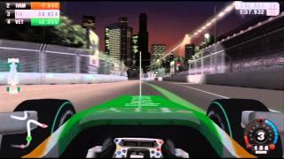 F1 09 Wii Gameplay - Singapour Full Race With Force India