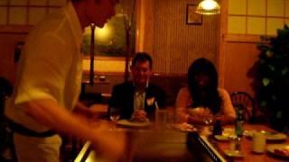 Tokyo Diner flipping skills