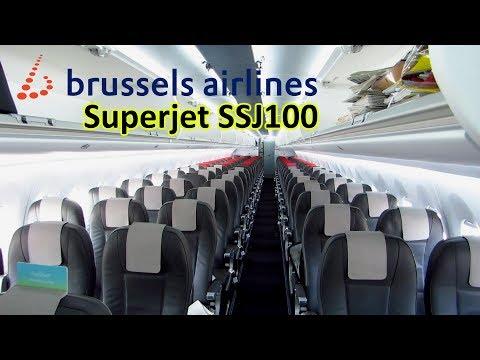 TRIP REPORT | Brussels Airlines SSJ100 | Berlin TXL to Brussels | Economy Class [Full HD]