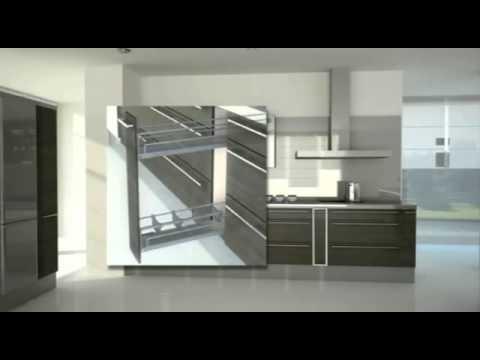 Herrajes extraibles l nea plus para muebles de cocina for Herrajes para muebles de bano