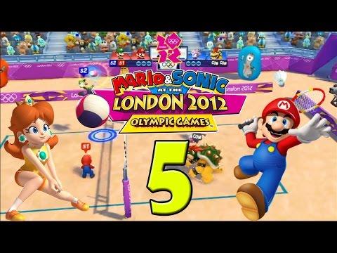 Mario & Sonic Londen 2012 (Multiplayer) DEEL 5: Paardrijden, badminton en strandvolleybal