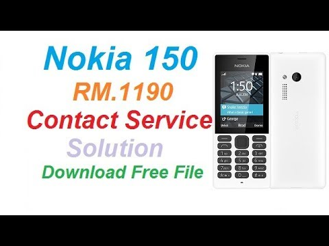 Nokia 150 RM-1190 Contact Service File free Download