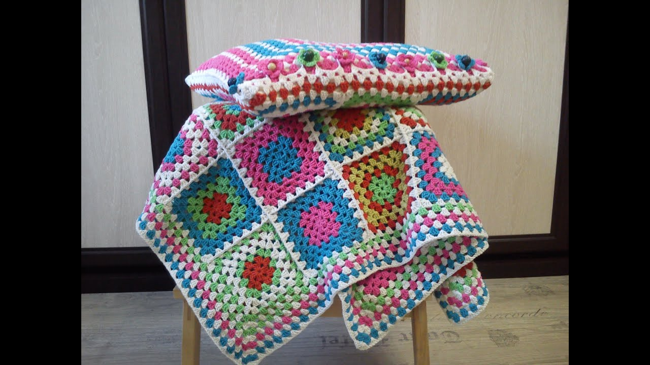 схемы вязания бабушкиного квадрата крючком