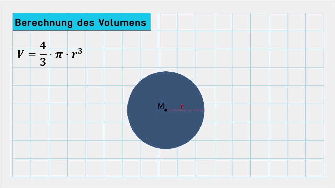 formeln für die berechnungen an der kugel (vorschau) - youtube
