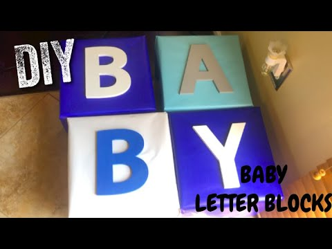 HOW TO MAKE JUMBO BABY LETTER BLOCKS !! FOR ANY EVENT