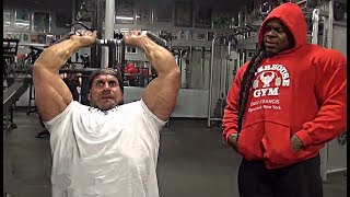 Jay Cutler & Kai Greene Trains Chest & Triceps at Bev Francis Powerhouse Gym
