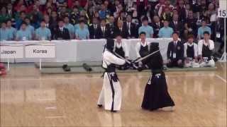 第16回世界剣道  決勝 日本対韓国 Japan vs Korea [16th wkc final]