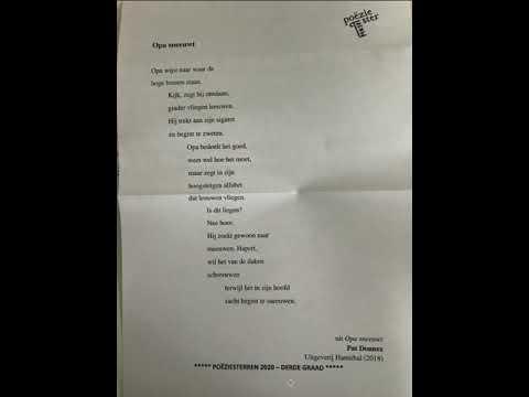gedicht voor opa
