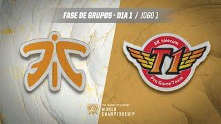 Mundial 2019: Fase de Grupos - Dia 1 | Fnatic x SK Telecom T1 (Jogo 1)