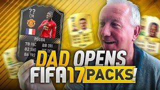 DAD OPENS FIFA 17 PACKS!