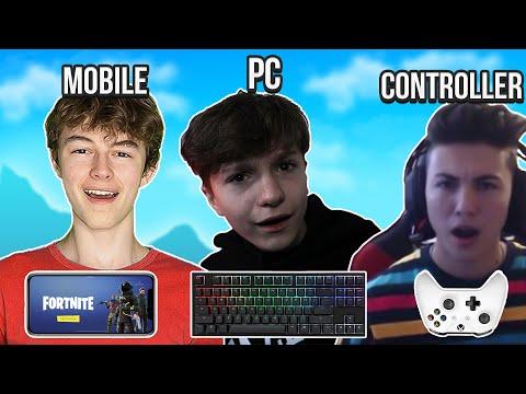 Controller Vs Mobile vs PC!! Pros FORTNITE High Kill CHALLENGE! (Part 2)