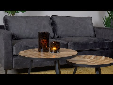 Samt Sofa 3-Sitzer Florida anthrazit