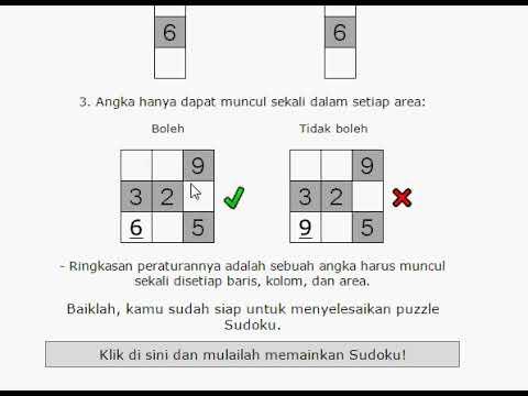 cara main sudoku