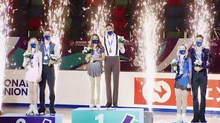 Церемония награждения Пары Красноярск Гран при по фигурному катанию среди юниоров 2021 22